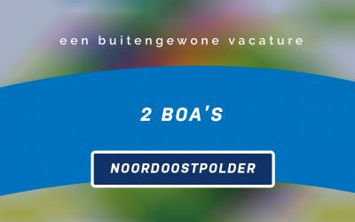 Vacature: BOA Emmeloord